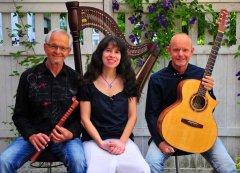 Ensemble Chorda Flautando Musik für Harfe, Blockflöten, Tin Whistle und Gitarre